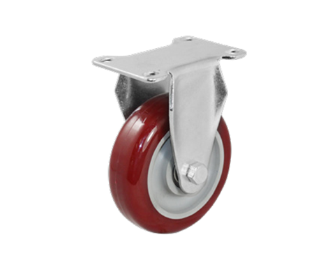 35Series系列-圆顶暗红色PU包灰色PP脚轮-重型脚轮