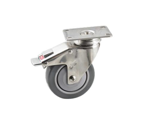 45Series系列-深灰色PU包灰色PP脚轮-重型脚轮