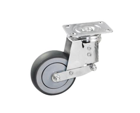 47Series系列-圆顶深灰色TPR包灰色PP弹簧防震脚轮