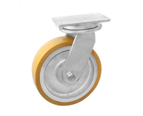 86Series系列-黄色PU包铁芯脚轮-重型脚轮