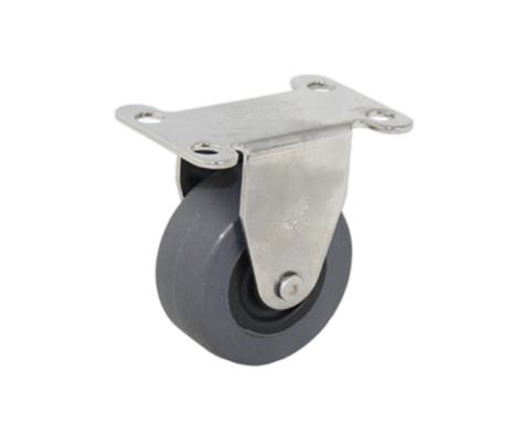02Series系列-灰色TPR包黑色PP轮不锈钢脚轮