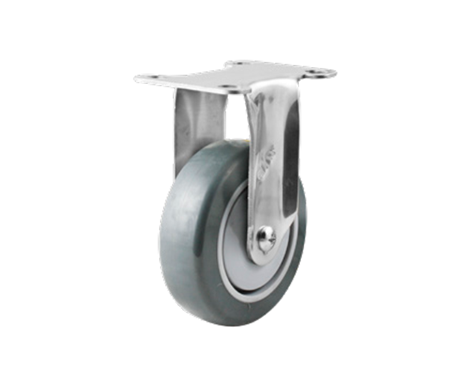46Series系列-深灰色TPR包灰色PP双踏板医用脚轮