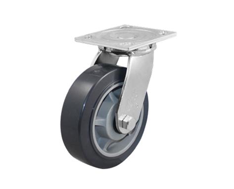 66Series系列-平顶灰色TPR包灰色PP脚轮
