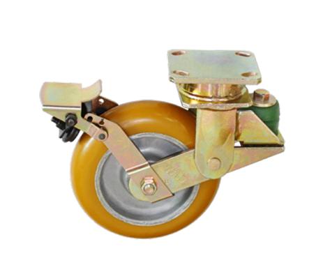 82Series系列-绿色圆顶PU包铝芯防震脚轮-重型脚轮